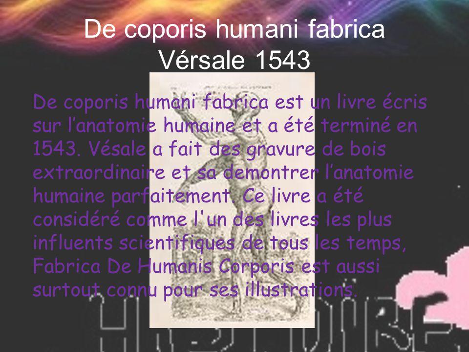 De coporis humani fabrica Vérsale 1543