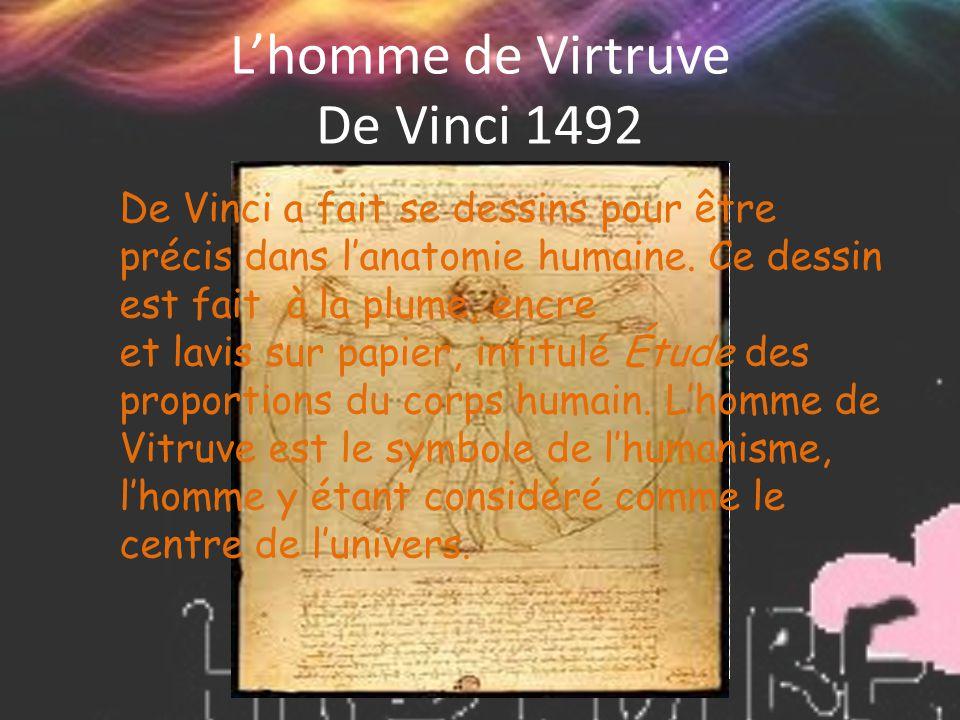 L'homme de Virtruve De Vinci 1492