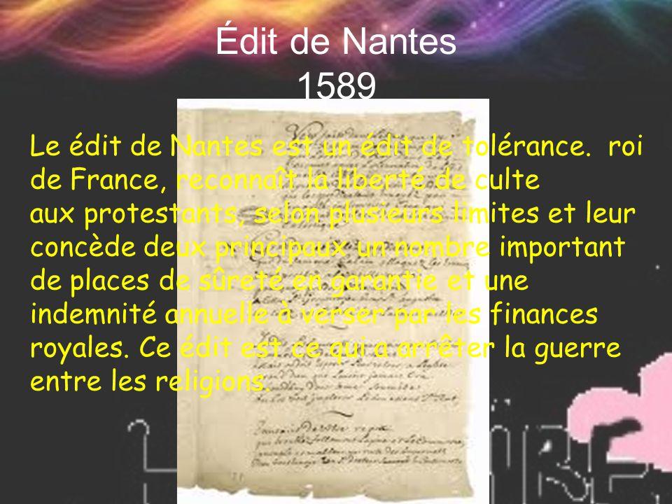 Édit de Nantes 1589