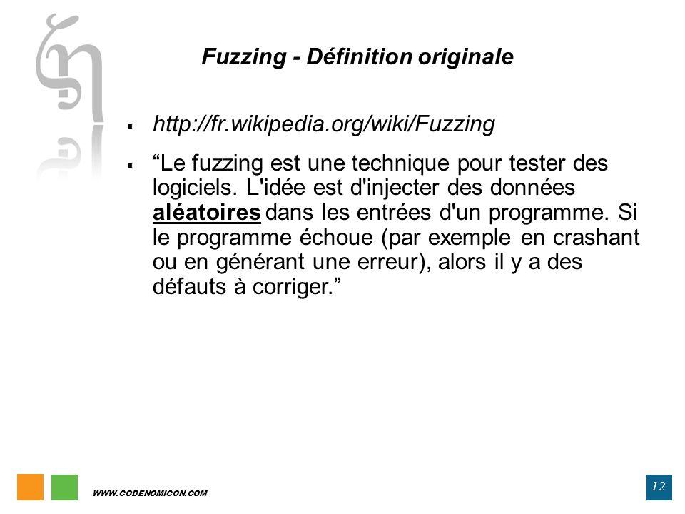 Fuzzing - Définition originale