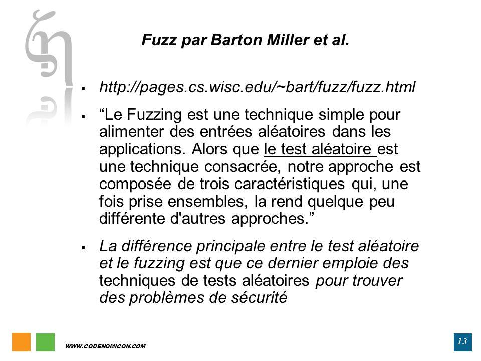 Fuzz par Barton Miller et al.