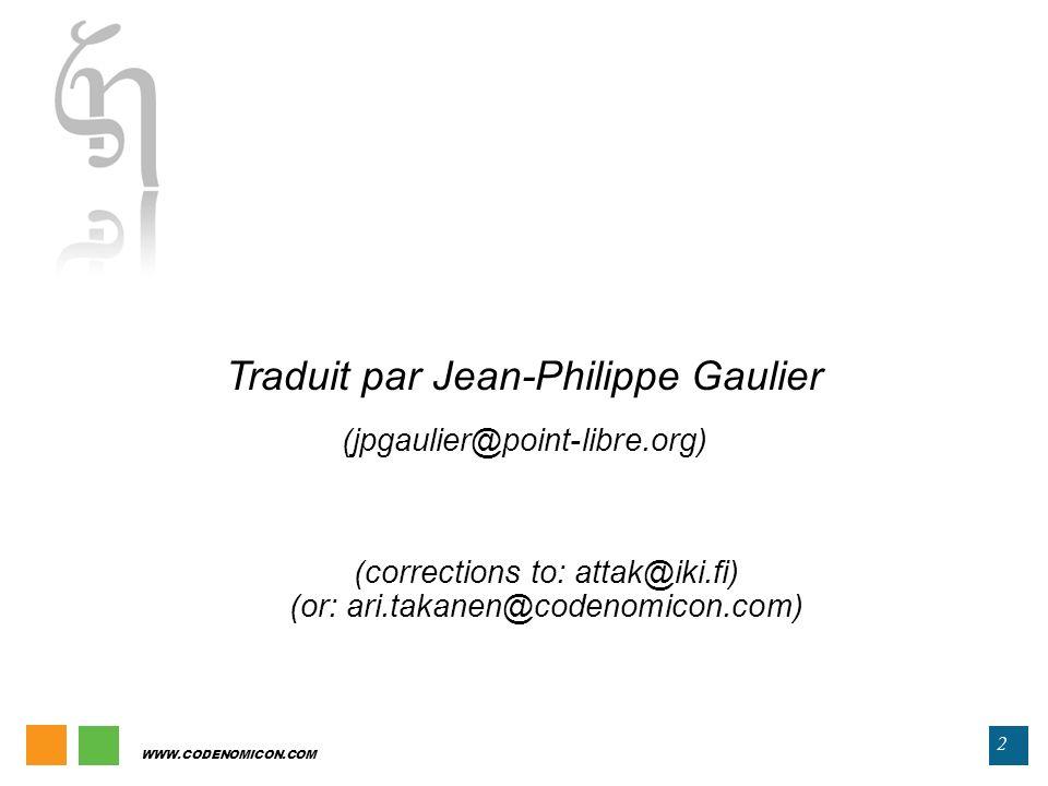 Traduit par Jean-Philippe Gaulier