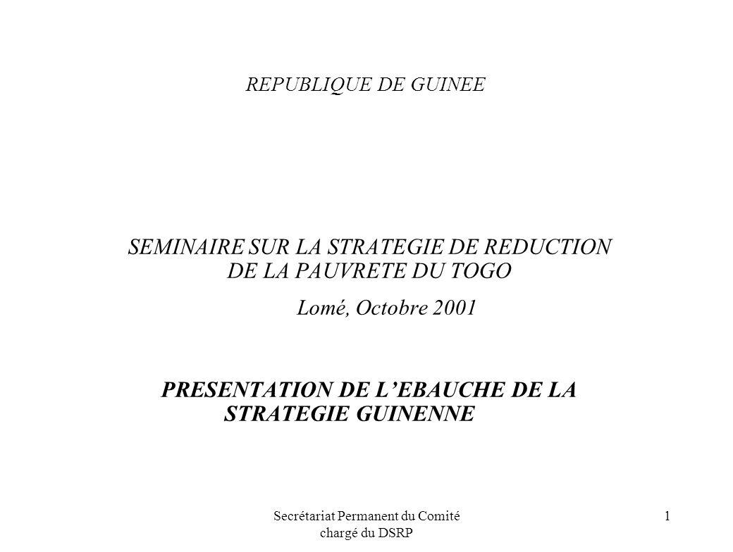 PRESENTATION DE L'EBAUCHE DE LA