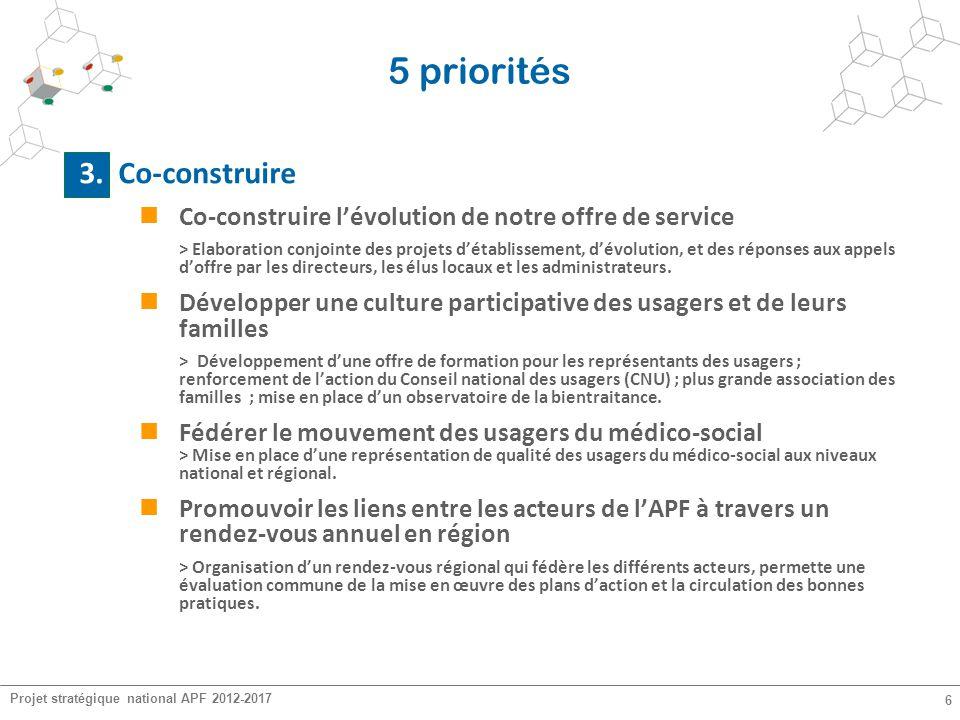 5 priorités 3. Co-construire