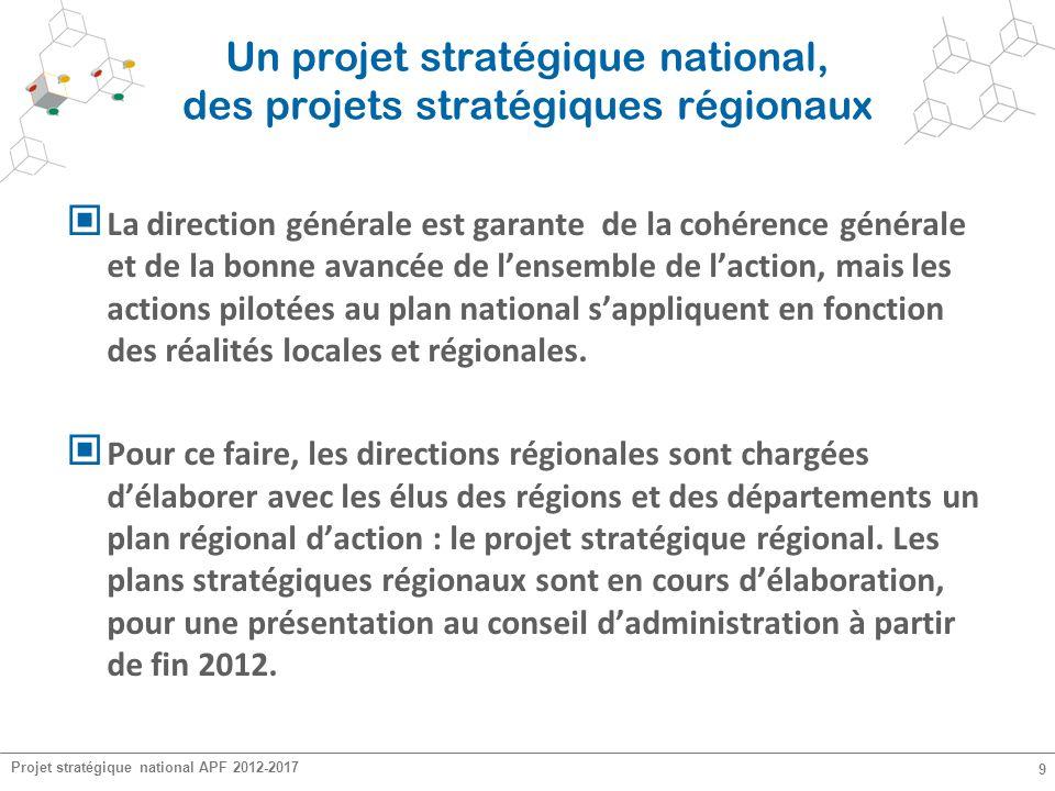 Un projet stratégique national, des projets stratégiques régionaux