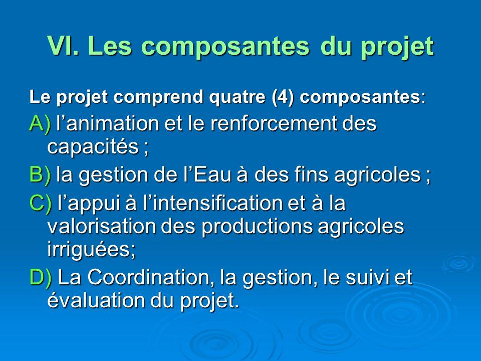VI. Les composantes du projet