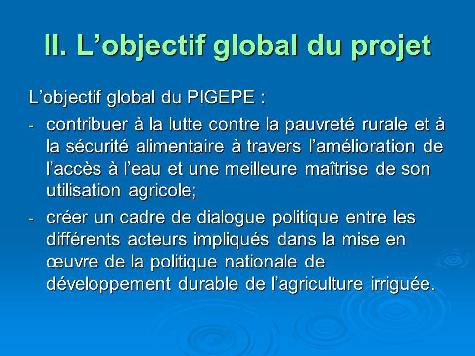 II. L'objectif global du projet