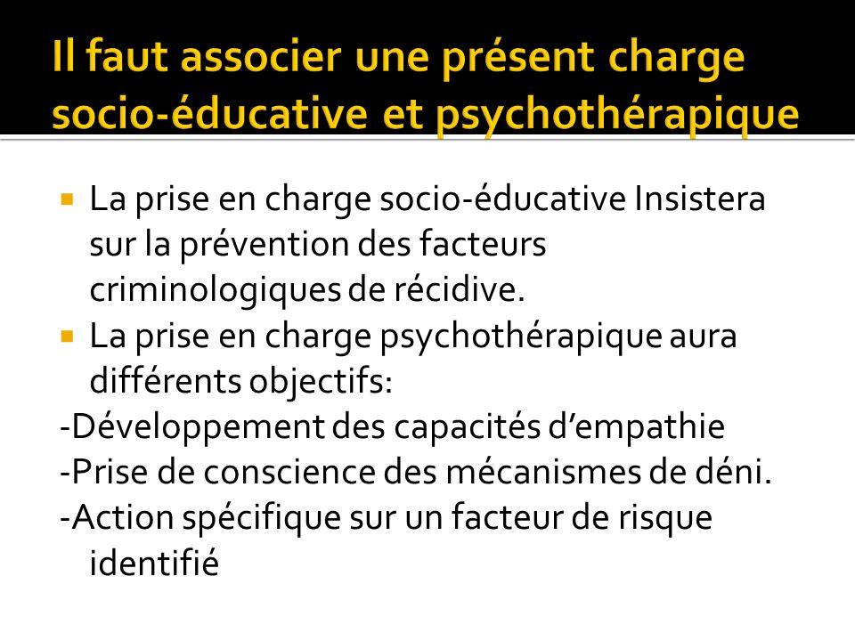 Il faut associer une présent charge socio-éducative et psychothérapique