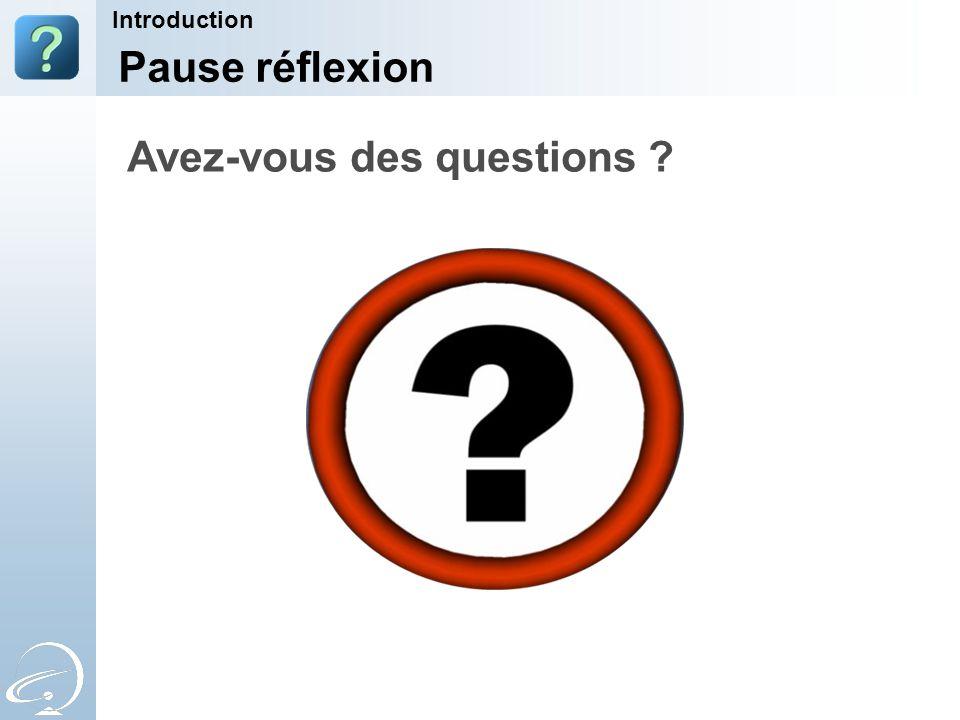 Avez-vous des questions