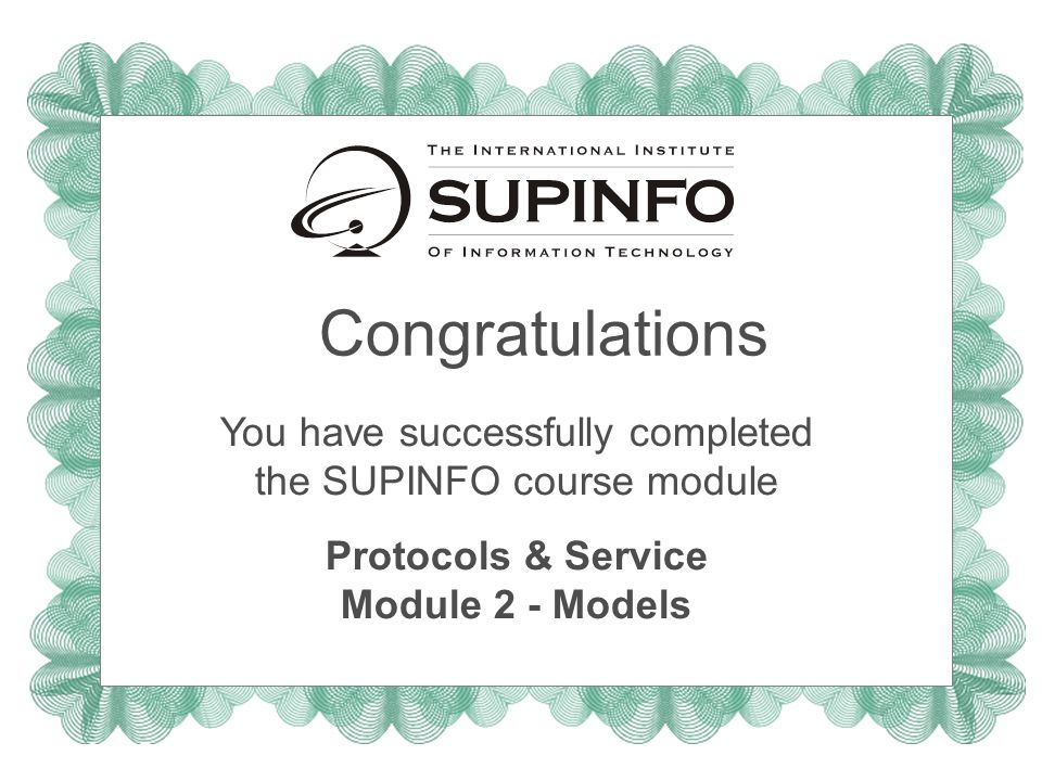 Protocols & Service Module 2 - Models