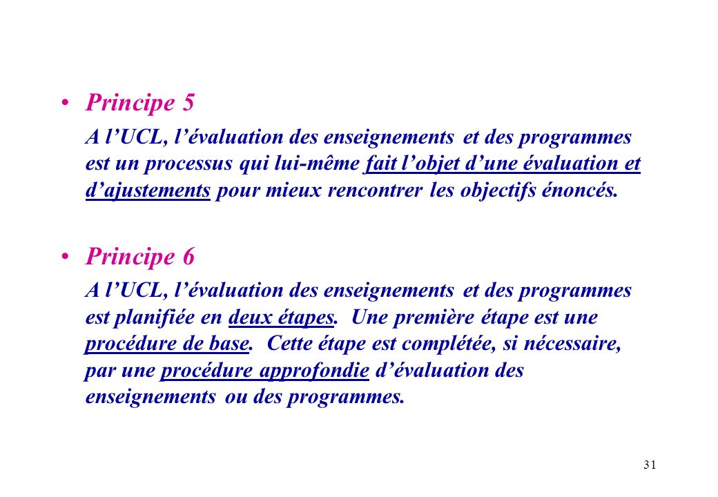Principe 5