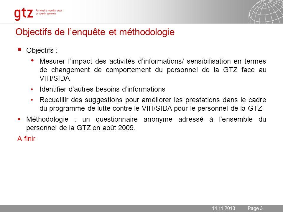 Objectifs de l'enquête et méthodologie