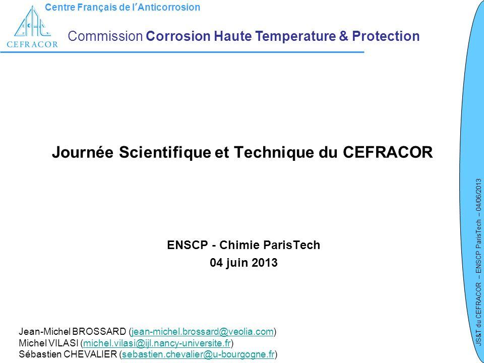 Journée Scientifique et Technique du CEFRACOR