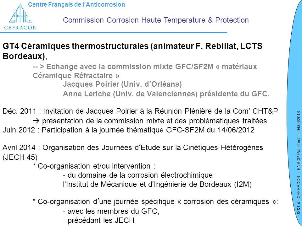 Commission Corrosion Haute Temperature & Protection