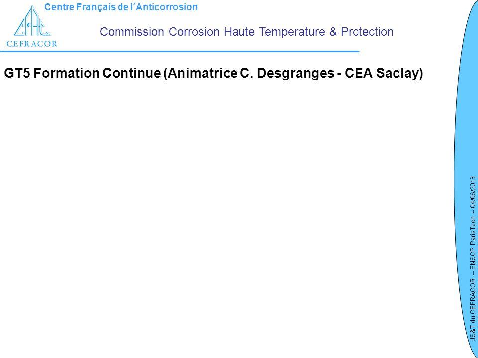 GT5 Formation Continue (Animatrice C. Desgranges - CEA Saclay)
