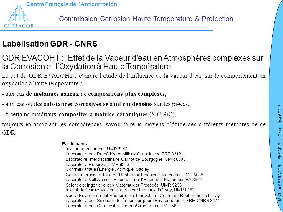 Labélisation GDR - CNRS