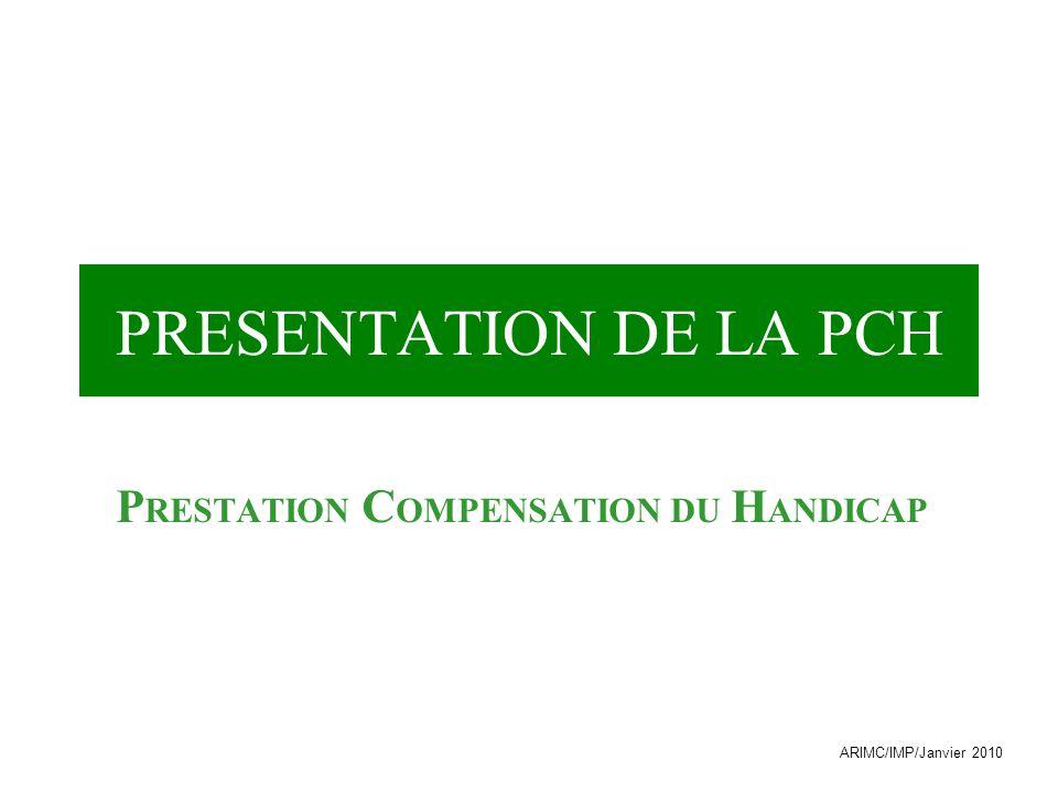 PRESTATION COMPENSATION DU HANDICAP