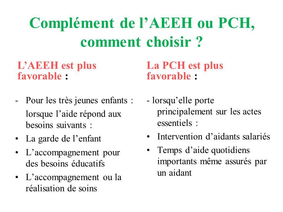 Complément de l'AEEH ou PCH, comment choisir