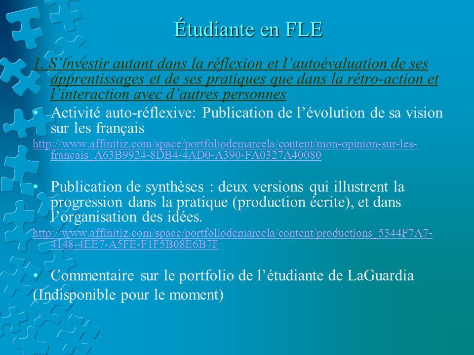 Étudiante en FLE