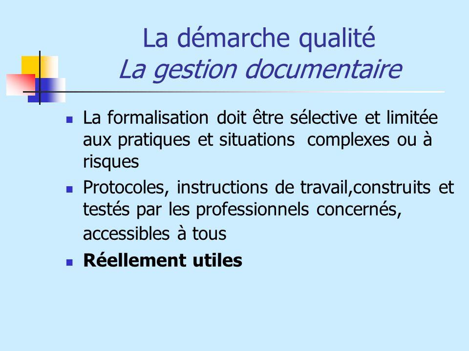 La démarche qualité La gestion documentaire