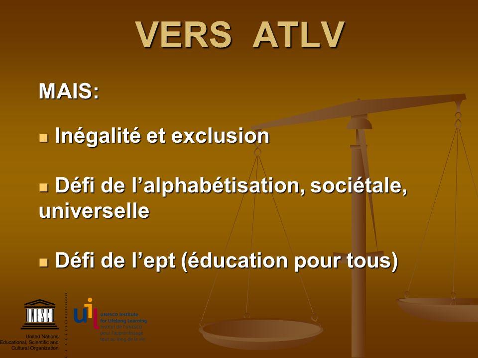VERS ATLV MAIS: Inégalité et exclusion