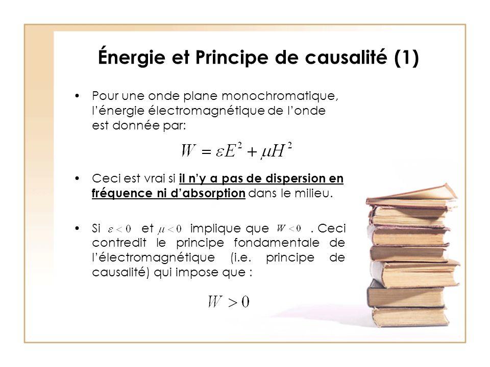 Énergie et Principe de causalité (1)