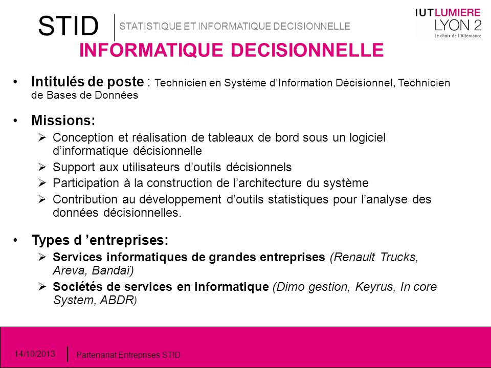 INFORMATIQUE DECISIONNELLE