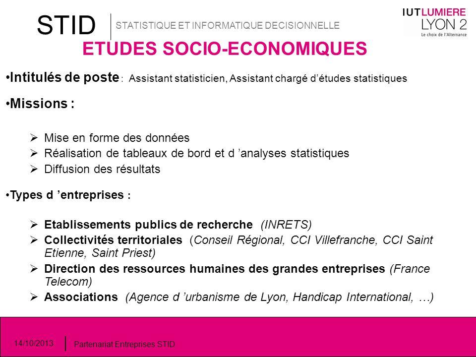 ETUDES SOCIO-ECONOMIQUES