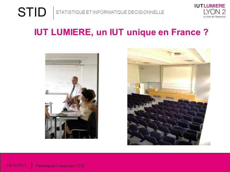 IUT LUMIERE, un IUT unique en France