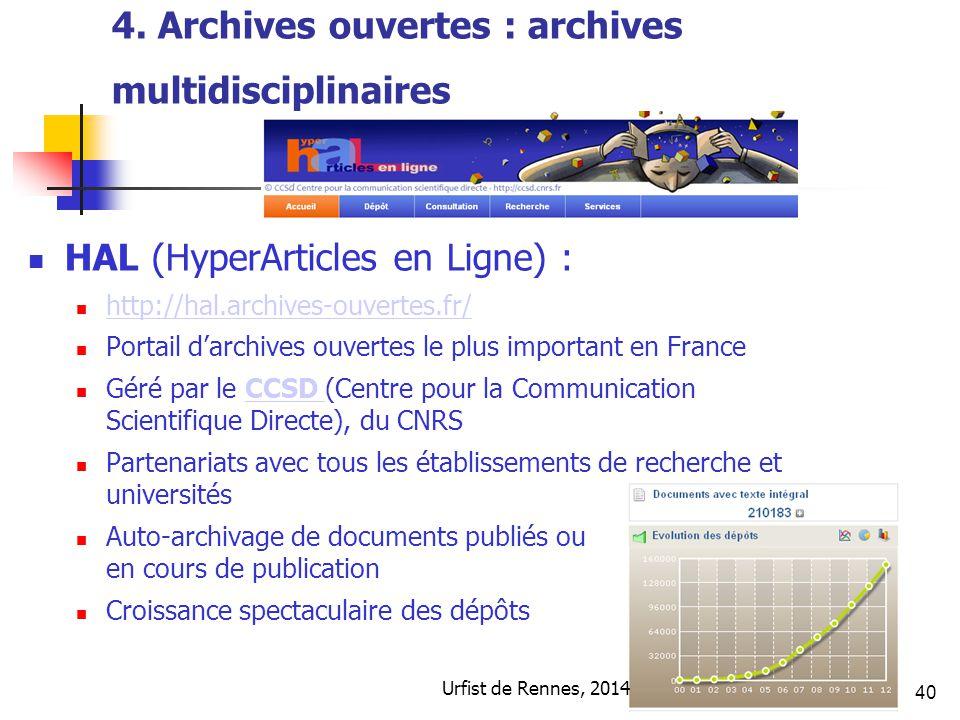 4. Archives ouvertes : archives multidisciplinaires