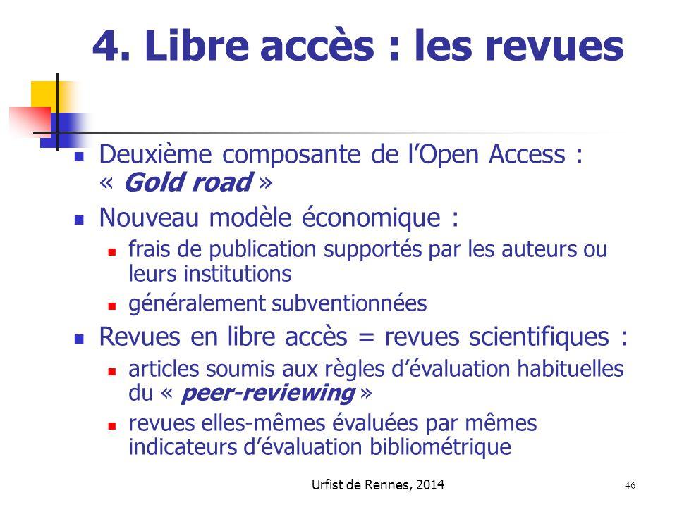 4. Libre accès : les revues