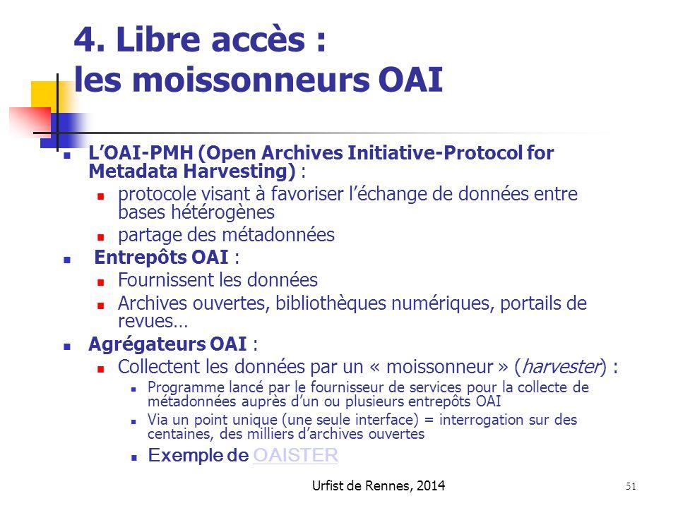 4. Libre accès : les moissonneurs OAI