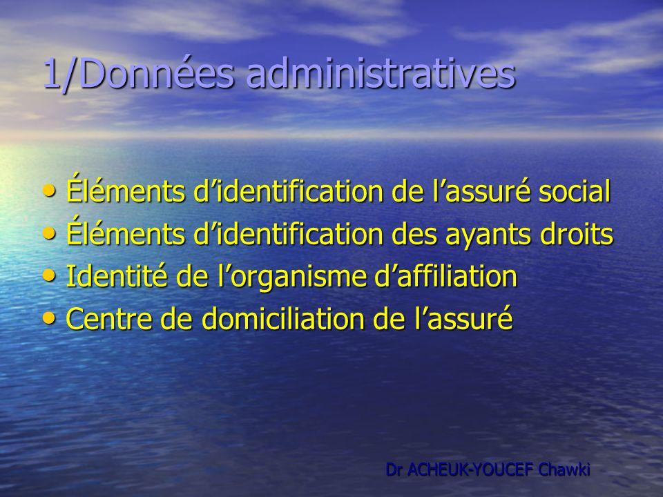 1/Données administratives