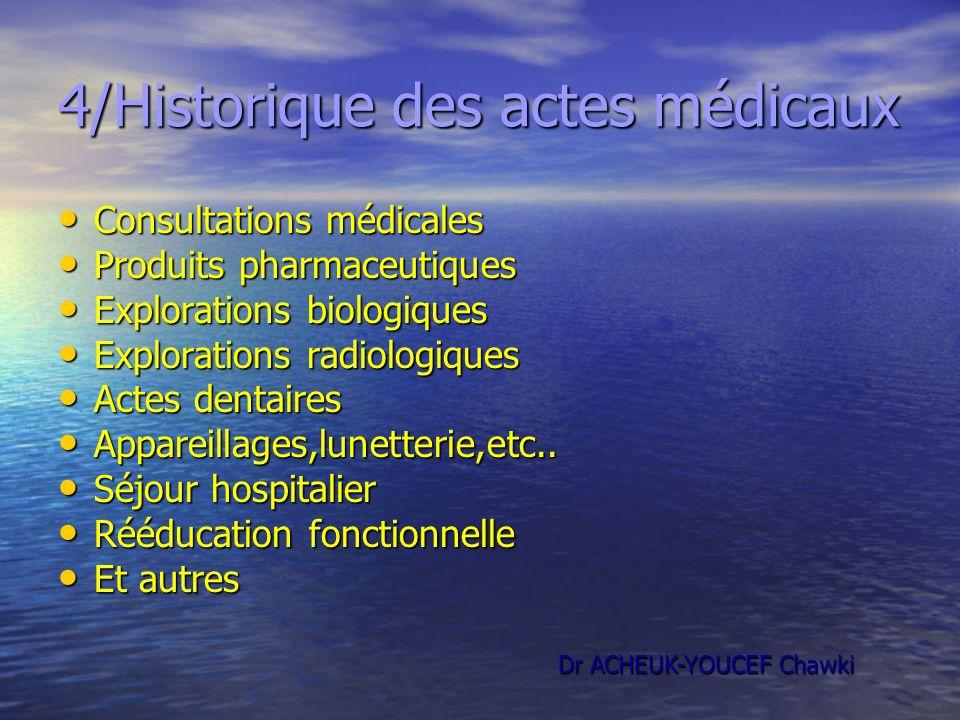 4/Historique des actes médicaux
