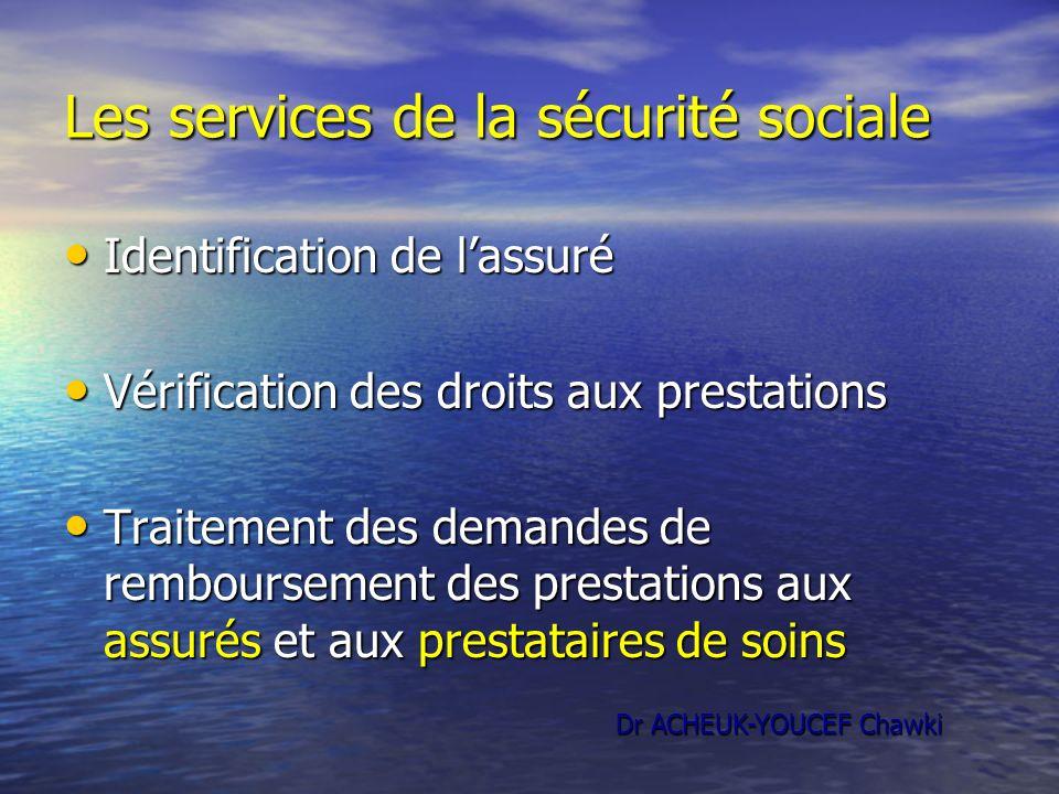 Les services de la sécurité sociale