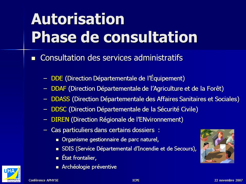 Autorisation Phase de consultation