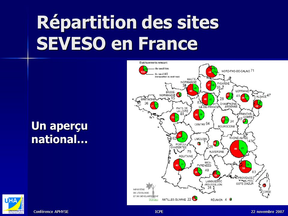 Répartition des sites SEVESO en France