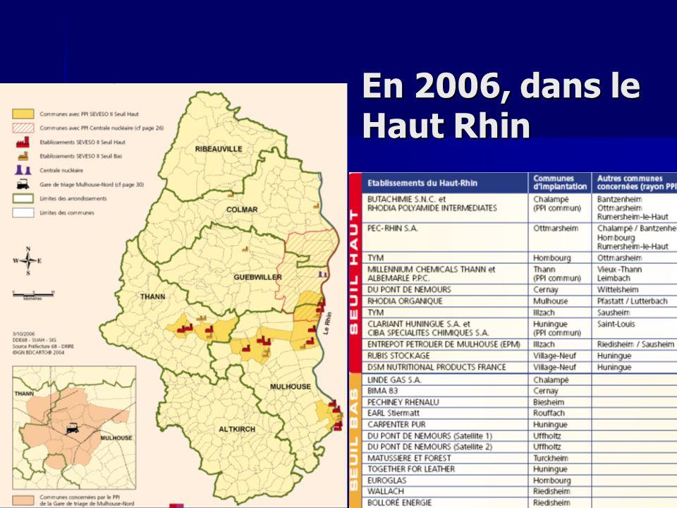 En 2006, dans le Haut Rhin SANDRA (enquete publique) ICPE