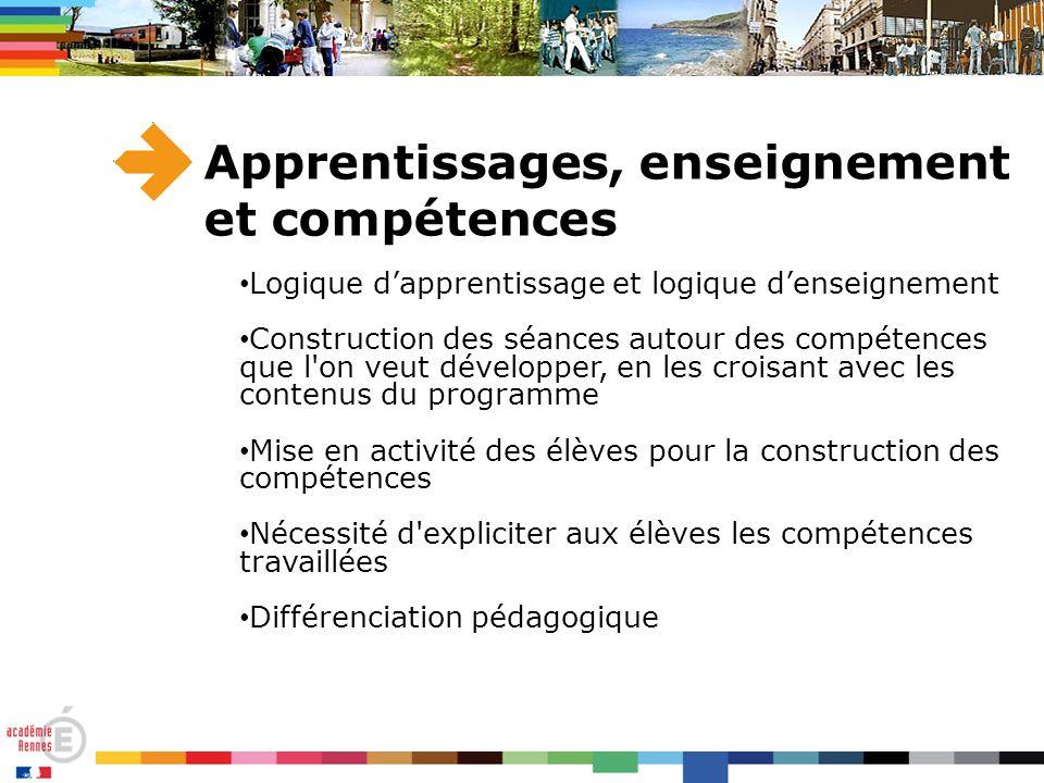 Apprentissages, enseignement et compétences