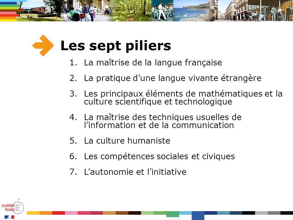 Les sept piliers La maîtrise de la langue française