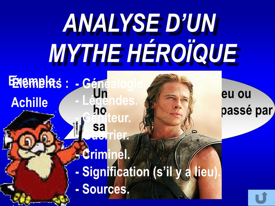 ANALYSE D'UN MYTHE HÉROÏQUE