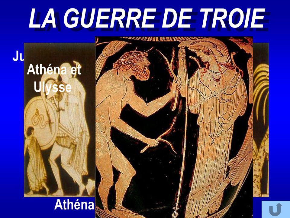 LA GUERRE DE TROIE Jugement de Pâris Athéna et Ulysse