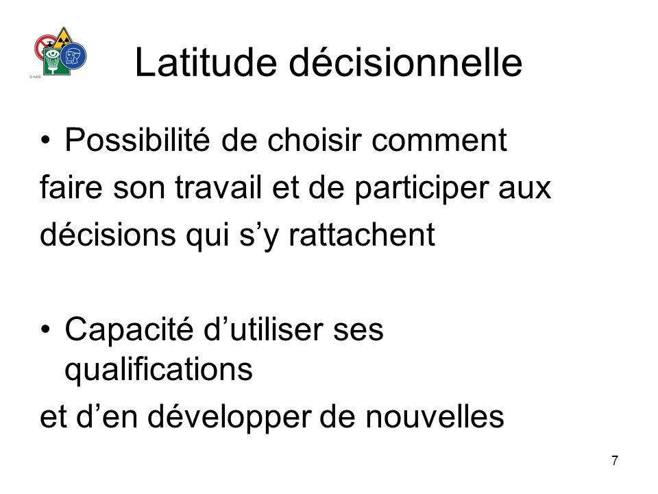 Latitude décisionnelle