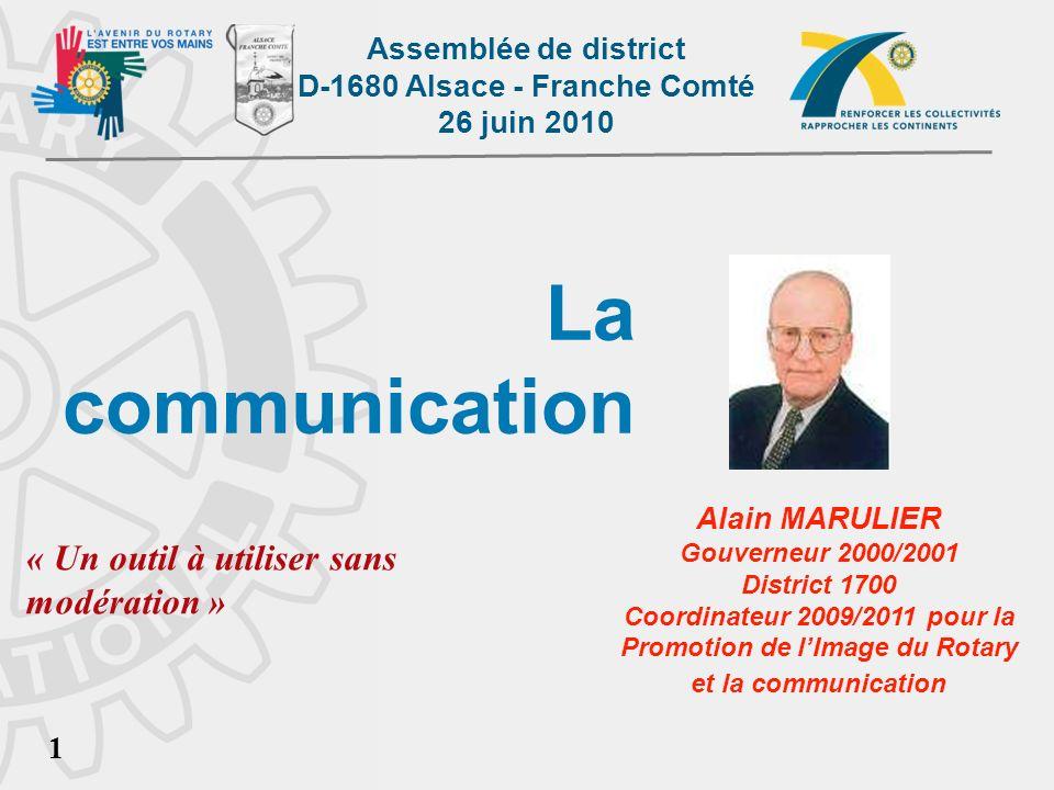 Promotion de l'Image du Rotary et la communication