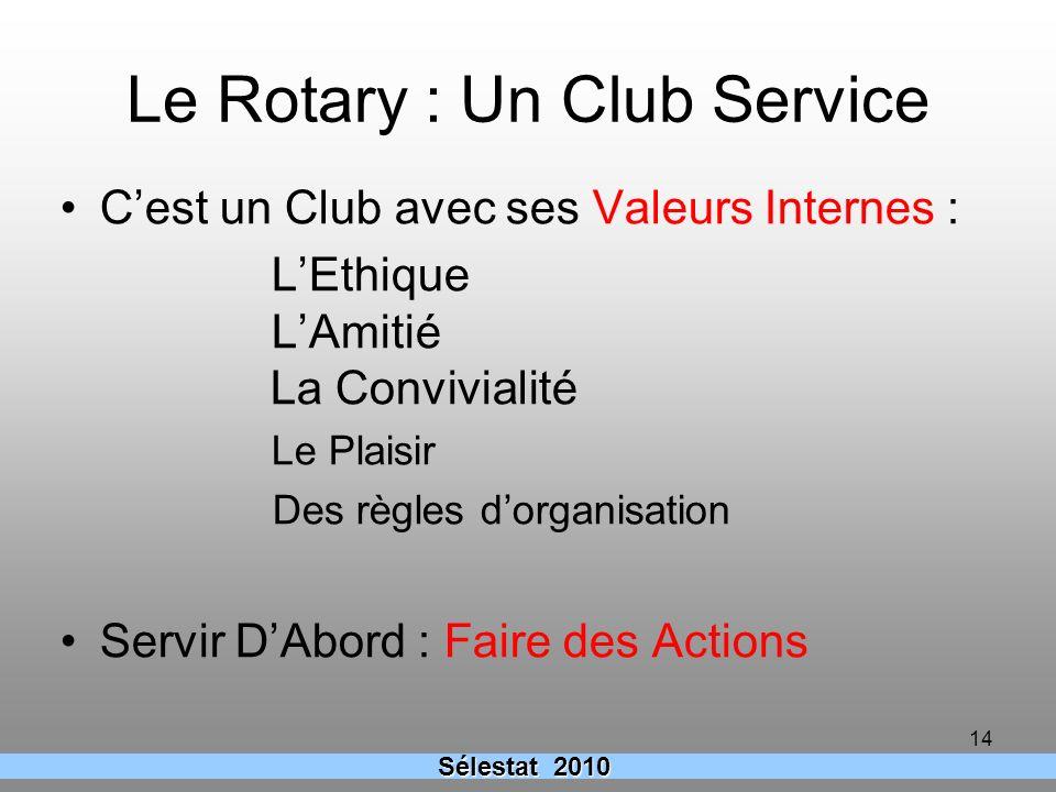 Le Rotary : Un Club Service