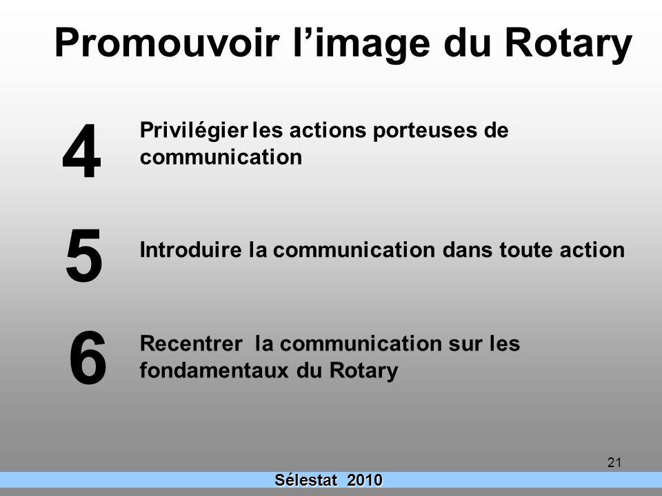 Promouvoir l'image du Rotary