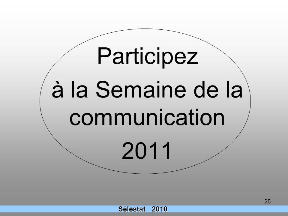 Participez à la Semaine de la communication 2011