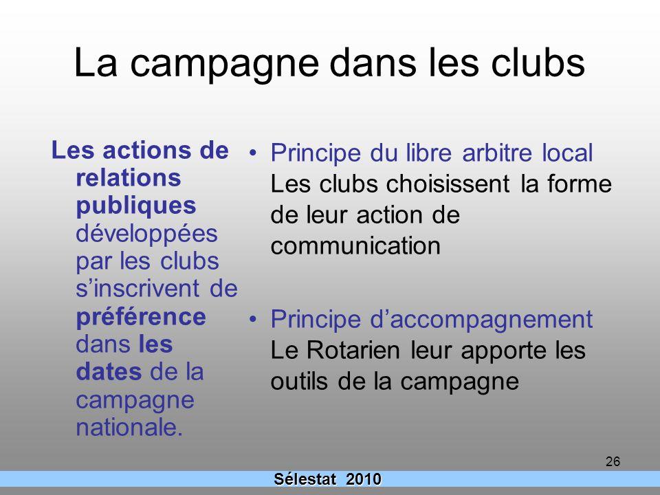 La campagne dans les clubs