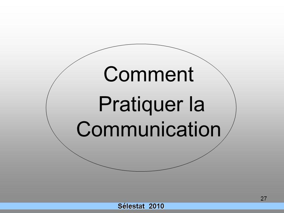 Comment Pratiquer la Communication