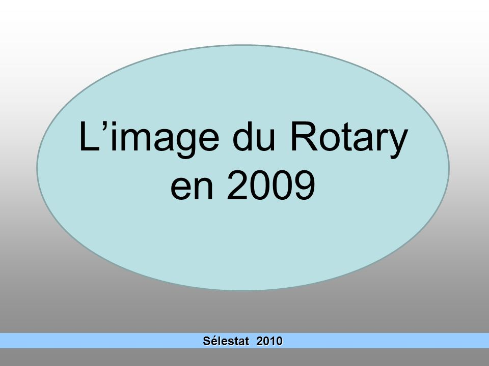 L'image du Rotary en 2009 Sélestat 2010 6